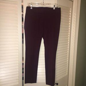 LOFT marrisa plum color ankle pants